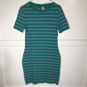 Divided H&M Striped Stretchy Dress